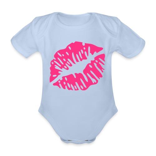 romper roze - Baby bio-rompertje met korte mouwen