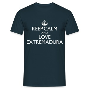 Keep calm and love Extremadura - Chicos - Camiseta hombre