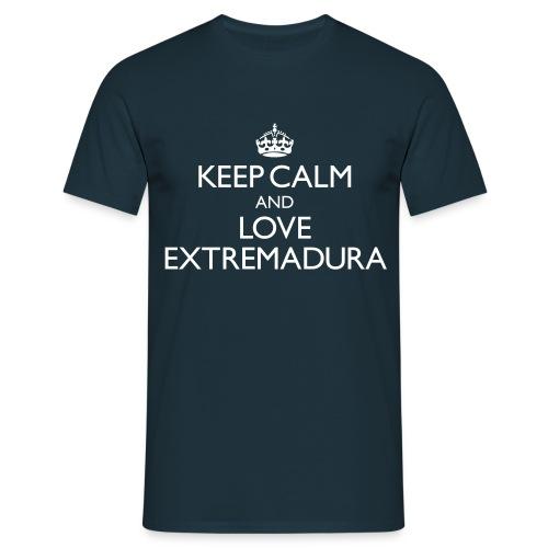Keep calm and love Extremadura - Chicos - Camiseta hombre