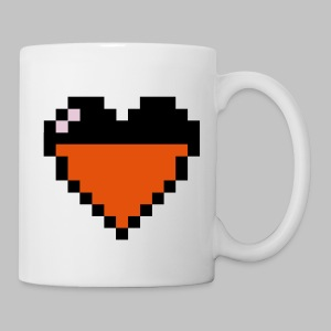 Mug Heart Pixel video games - Mug