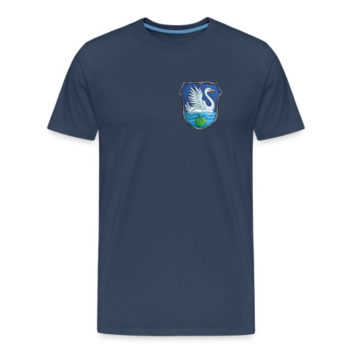 Shirt Blau [FEU-GLA-BLA-001] - Männer Premium T-Shirt