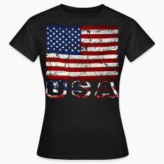 US flag vintage stars and stripes distressed T-Shirt