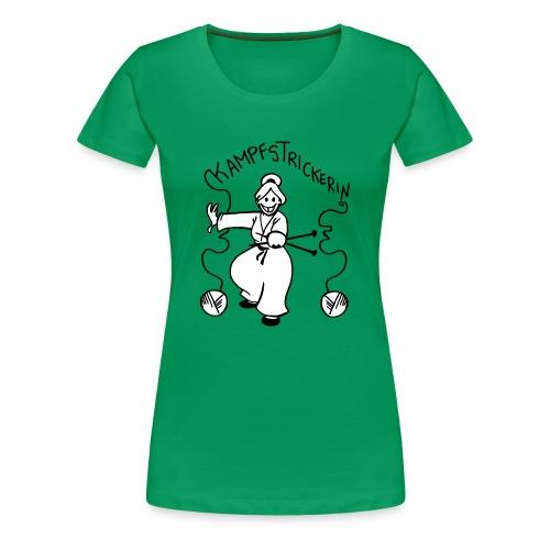 Kampfstrickerin - Frauen Premium T-Shirt