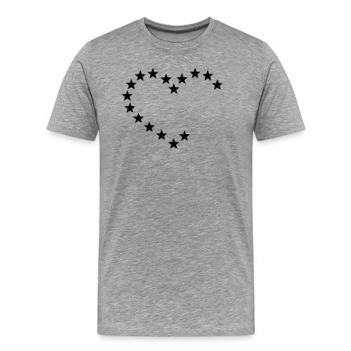 Basic heart - Camiseta premium hombre