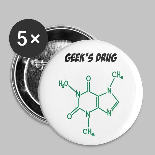 Badge Geek's drug (pin's button) - Buttons medium 1.26/32 mm (5-pack)