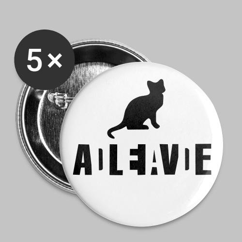 Badge schrodinger (pin's button) - Buttons medium 1.26/32 mm (5-pack)