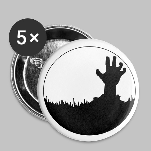 Badge Zombie (pin's button) - Buttons medium 32 mm