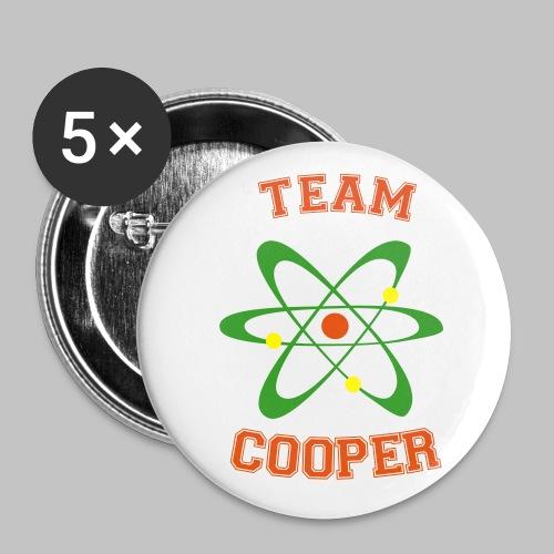 Badge Team Cooper (pin's button) - Buttons medium 1.26/32 mm (5-pack)