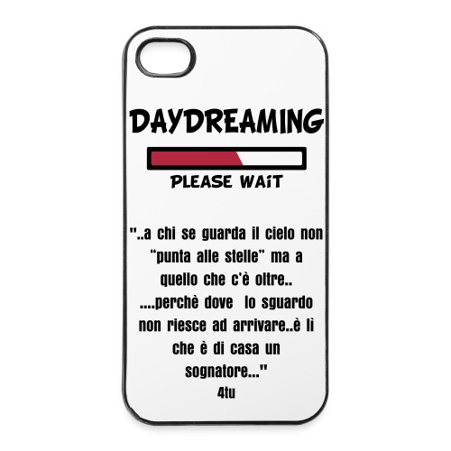 custodia cover cellulare personalizzata con frase  4s 5  4  tablet - Custodia rigida per iPhone 4/4s