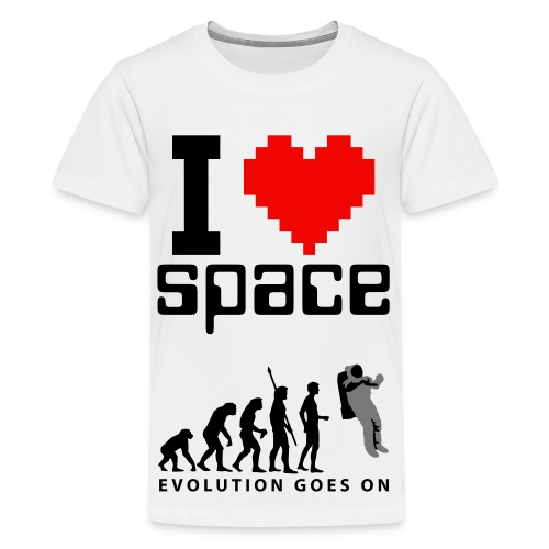 I like space! - Premium-T-shirt tonåring