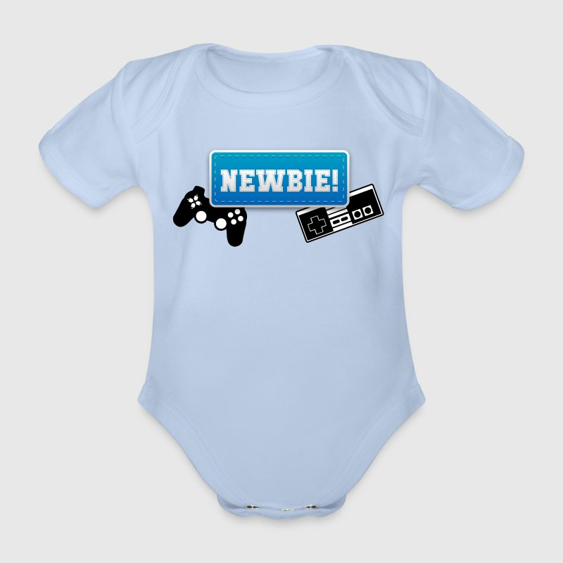 Newbie - Boy T-Shirts - Baby Bio-Kurzarm-Body