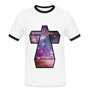 Space Cross Mans Tee - Men's Ringer Shirt