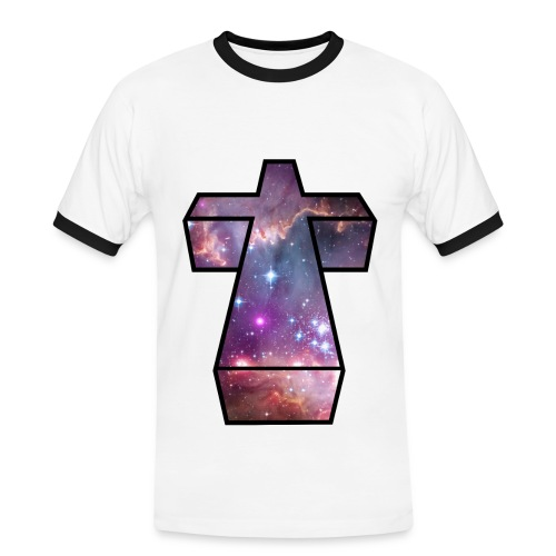Space Cross Mans Tee - Men's Ringer Shirt