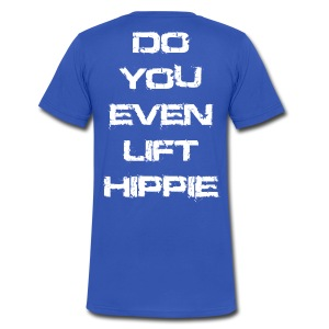 Do You Even Lift Hippie White VNECK - Men's V-Neck T-Shirt