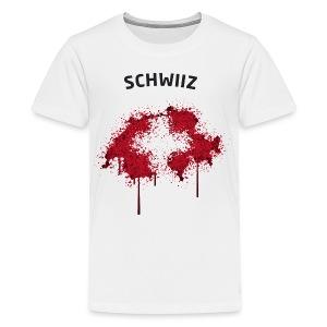 Teenager Fußball Fan T-Shirt Schwiiz Graffiti - Teenager Premium T-Shirt