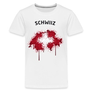 Teenager Fußball Fan T-Shirt Schwiiz Graffiti - Teenager Premium T-Shirt
