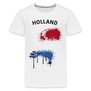 Teenager Fußball Fan T-Shirt Holland Graffiti - Teenager Premium T-Shirt