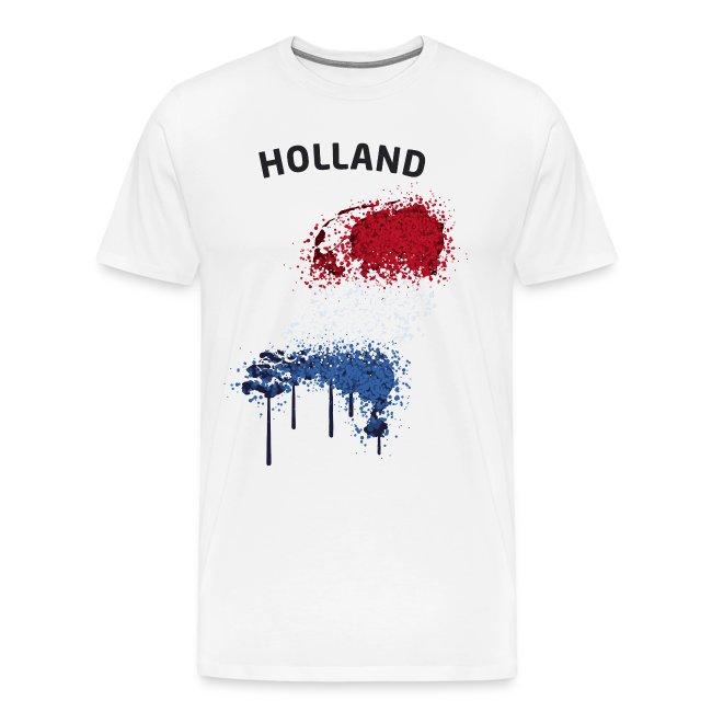 Herren Fußball Fan T-Shirt Holland Graffiti