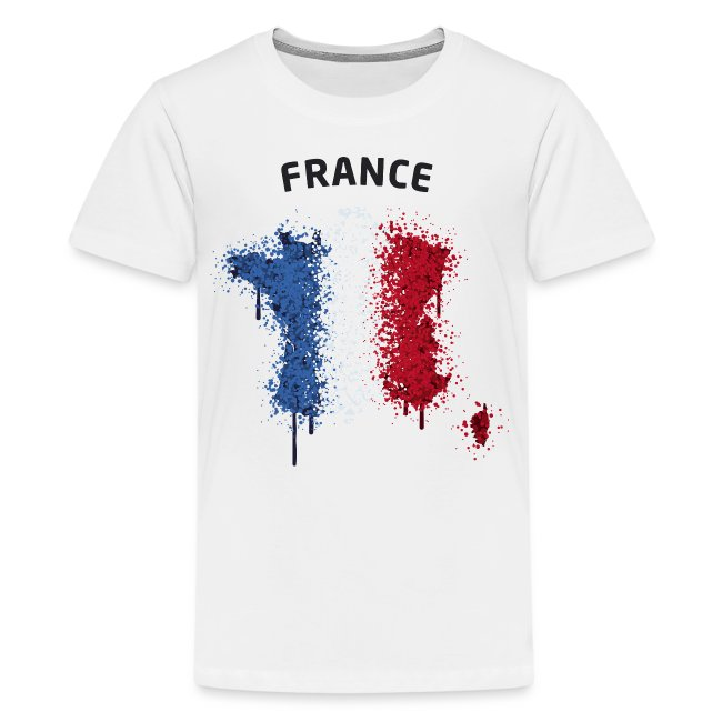 Teenager Fußball Fan T-Shirt France Graffiti