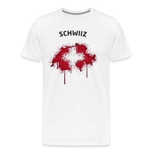 Herren Fußball Fan T-Shirt Schwiiz Graffiti - Männer Premium T-Shirt
