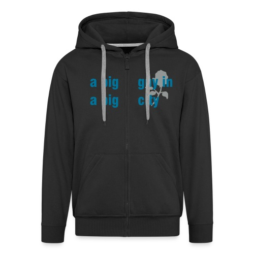 big guy rose hoodie - Men's Premium Hooded Jacket