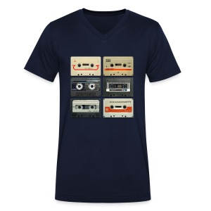 Vintage tapes: 6 tapes - Men's Organic V-Neck T-Shirt by Stanley & Stella