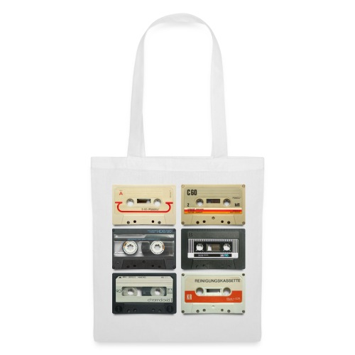 Vintage tapes: 6 tapes - Tote Bag
