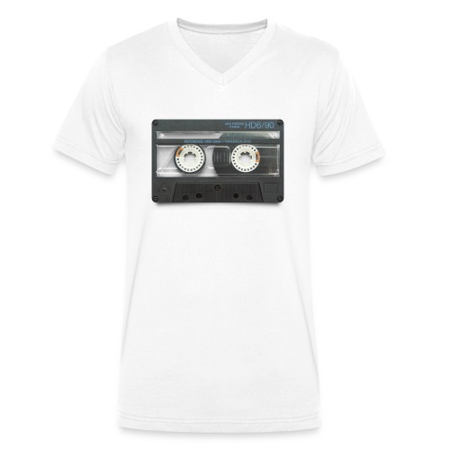 vintage tape: hd6/90 - Men's Organic V-Neck T-Shirt by Stanley & Stella