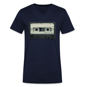 vintage tape: chromdioxid II - Men's Organic V-Neck T-Shirt by Stanley & Stella
