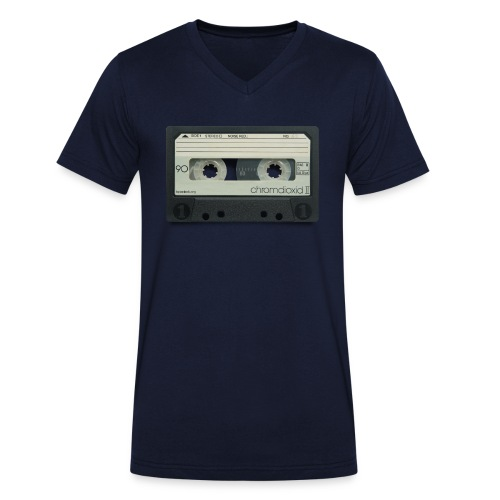 vintage tape: chromdioxid II - Men's Organic V-Neck T-Shirt by Stanley & Stella