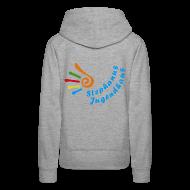 Pullover & Hoodies ~ Frauen Premium Kapuzenpullover ~ Kapuzenpullover - Girlie - nur hinten Logo-Aufdruck