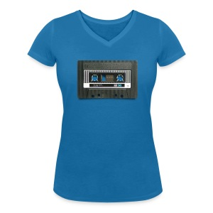 vintage tape: position normal - Women's Organic V-Neck T-Shirt by Stanley & Stella