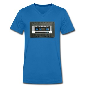 vintage tape: position normal - Men's Organic V-Neck T-Shirt by Stanley & Stella
