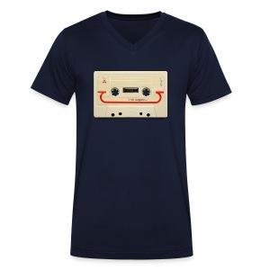 vintage tape: compact cassette - Men's Organic V-Neck T-Shirt by Stanley & Stella