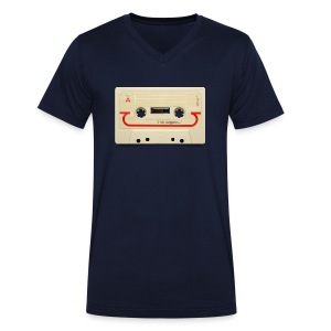 vintage tape: compact cassette - Men's Organic V-Neck T-Shirt by Stanley & Stella