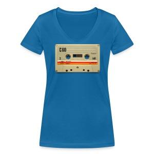 vintage tape: C60 - Women's Organic V-Neck T-Shirt by Stanley & Stella