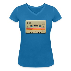 vintage tape: C60 - Women's Organic V-Neck T-Shirt by Stanley & Stella