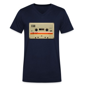 vintage tape: C60 - Men's Organic V-Neck T-Shirt by Stanley & Stella