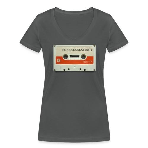 vintage tape: reinigungskassette - Women's Organic V-Neck T-Shirt by Stanley & Stella