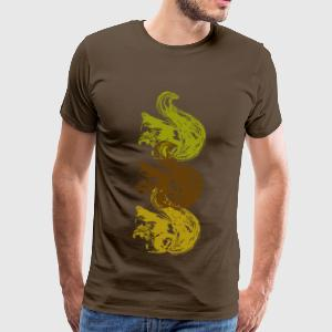 Squirrel T-shirts - Mannen Premium T-shirt