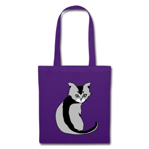 Sac shopping - chaton gris - Tote Bag