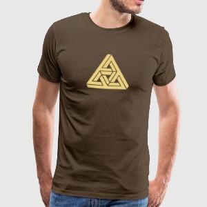 Impossible Triangle, optical illusion, Escher Tee shirts - T-shirt Premium Homme