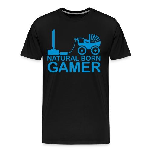 Naturligt født GAMER - T-Shirt Black - Herre premium T-shirt
