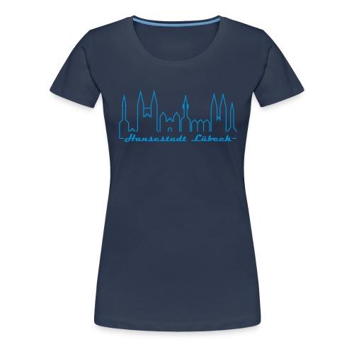 Damen T-Shirt - Hansestadt Lübeck - Frauen Premium T-Shirt