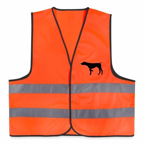 Warnweste Jagdlook mit Hund - Warnweste