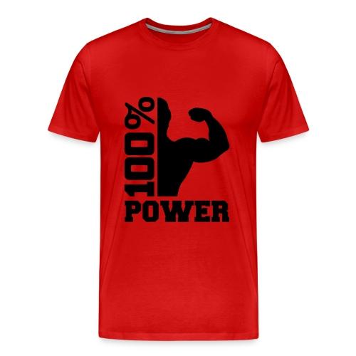 100% Power - Männer Premium T-Shirt