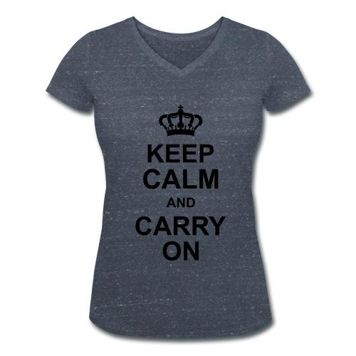 Keep calm - Frauen Bio-T-Shirt mit V-Ausschnitt von Stanley & Stella