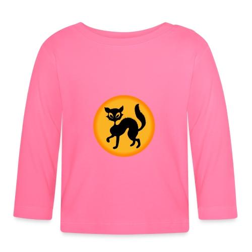 Halloween cat - T-shirt manches longues Bébé