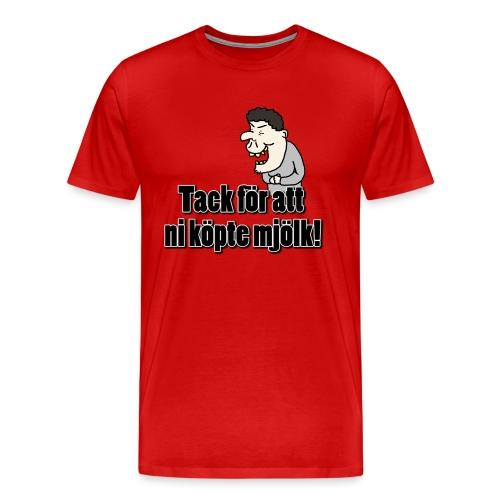 Tack för att ni köpte Mjölk GejmTajm - Premium-T-shirt herr