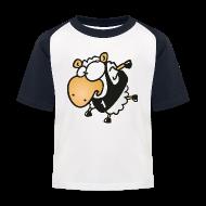 T-Shirts ~ Kinder Baseball T-Shirt ~ Lauf Schäfchen Sport T-Shirt